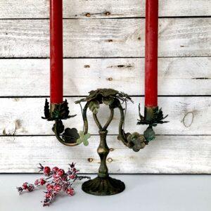 Vintage flowers candelabra