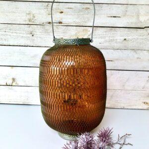 Moroccan amber lantern