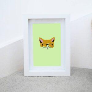 Ginger Cat Art Print A6